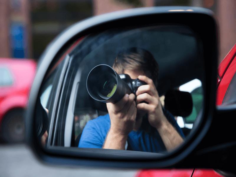 カメラ 撮影 サイドミラー 車