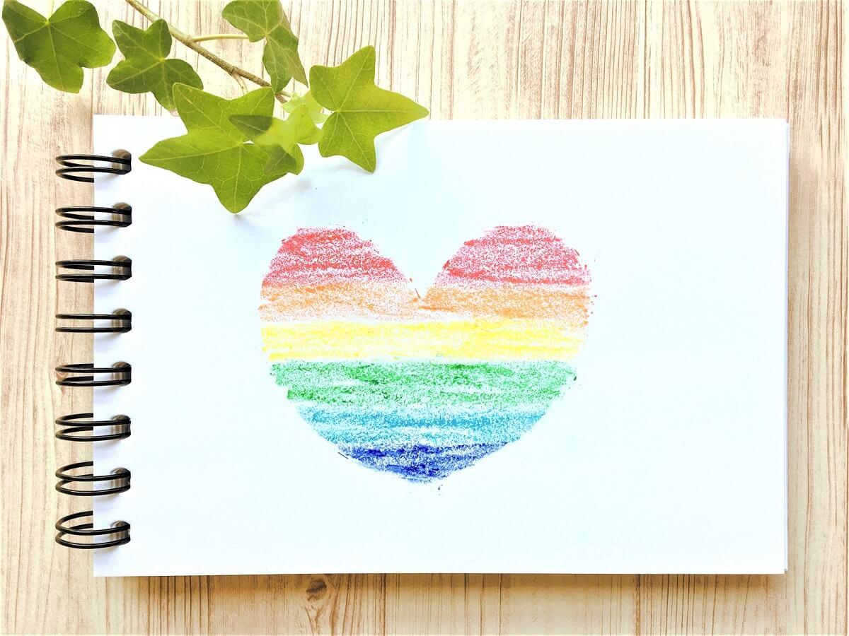 レインボー LGBT ハート