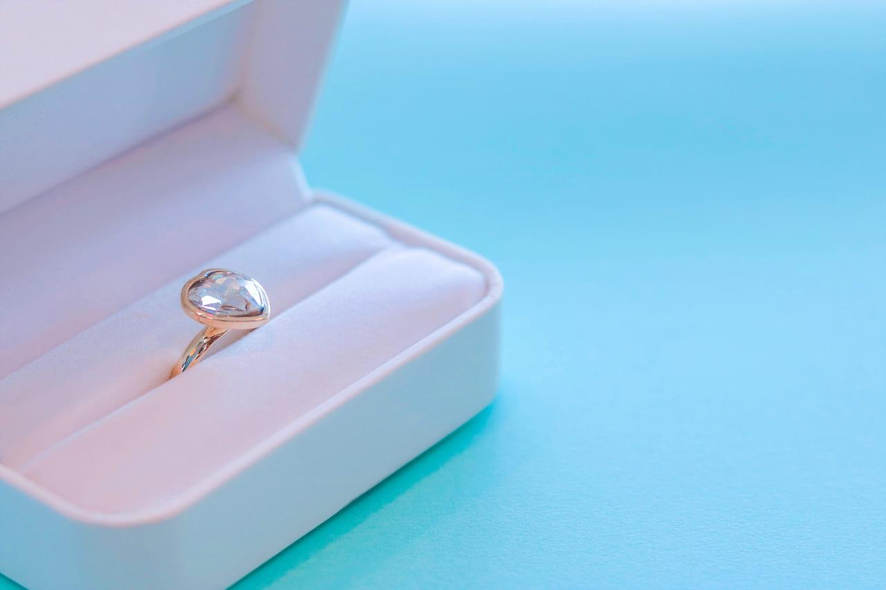 ボックスに入れられた結婚指輪
